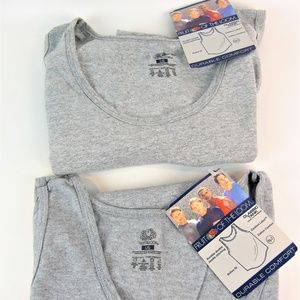 2 Fruit Of the Loom Tank Tops Size L/G Gray